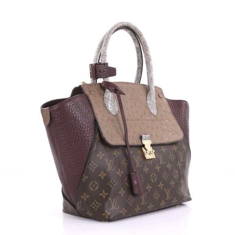a00f577c08a8 Gray Louis Vuitton Majestueux Tote Monogram Canvas and Exotics MM For Sale