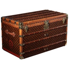 Louis Vuitton Malle Courrier Case Oil Cloth Brass, 1920s
