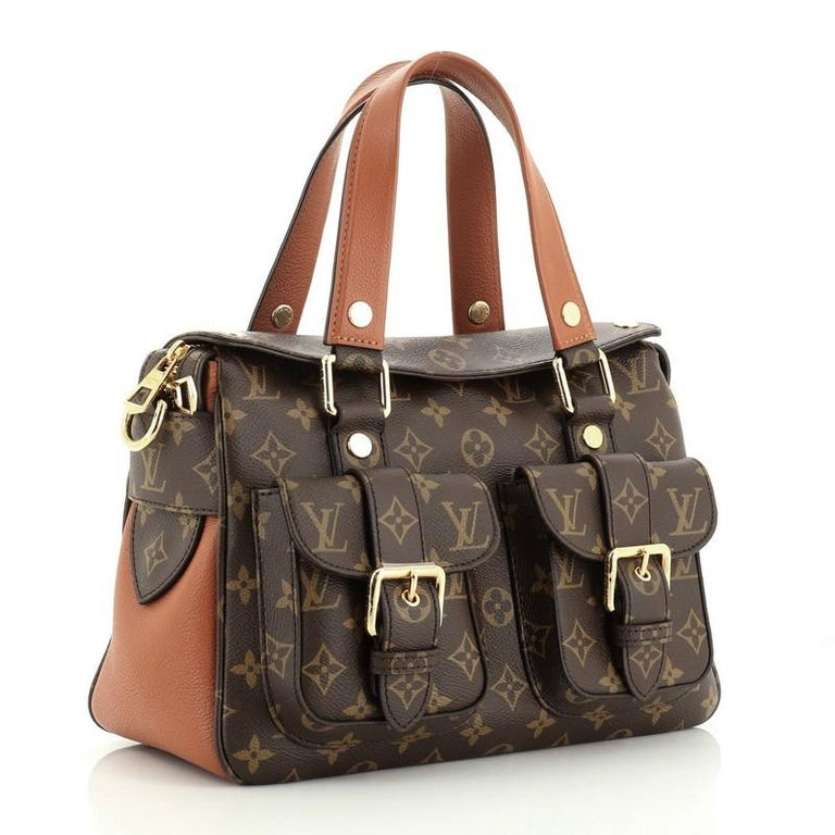 Louis Vuitton Manhattan NM Handbag Monogram Canvas with Leather In Good Condition For Sale In New York, NY