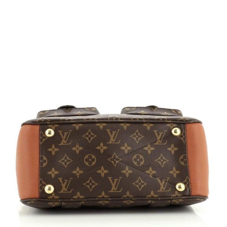 Louis Vuitton Manhattan NM Handbag Monogram Canvas with Leather For Sale 1