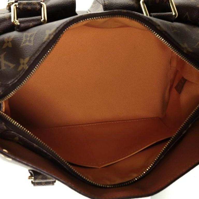 Louis Vuitton Manhattan NM Handbag Monogram Canvas with Leather For Sale 2
