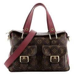 Louis Vuitton Manhattan NM Handbag Monogram Canvas with Leather