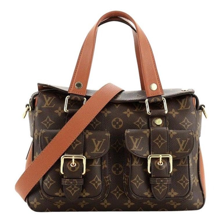 Louis Vuitton Manhattan NM Handbag Monogram Canvas with Leather For Sale
