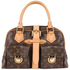 Louis Vuitton Manhattan PM brown monogram canvas/leather bag