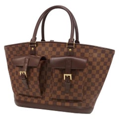 LOUIS VUITTON Manosque GM Womens tote bag N51120 Damier ebene