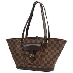 LOUIS VUITTON Manosque PM Womens tote bag N51121 Damier ebene
