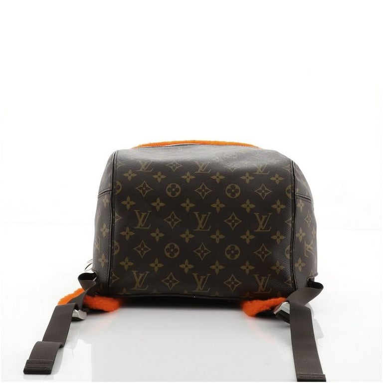 Women's or Men's Louis Vuitton Marc Newson Backpack Shearling and Monogram Canvas For Sale