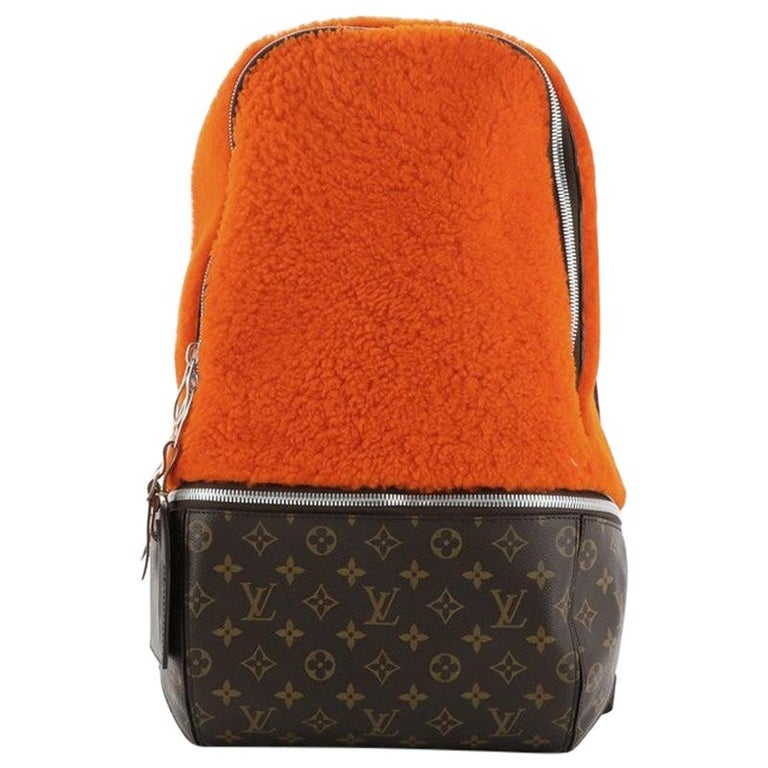 Louis Vuitton Marc Newson Backpack Shearling and Monogram Canvas For Sale