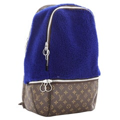 Louis Vuitton Marc Newson Backpack Shearling and Monogram Canvas