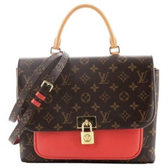 Louis Vuitton Marignan Handbag Monogram Canvas with Leather