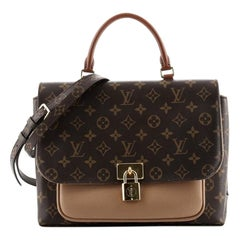 Louis Vuitton Marignan Handbag Monogram Canvas with Leather