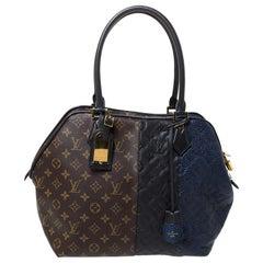 Louis Vuitton Marine Monogram Canvas&Leather Limited Edition Blocks Zipped Bag