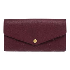 Louis Vuitton Maroon Monogram Empreinte Leather Sarah Wallet