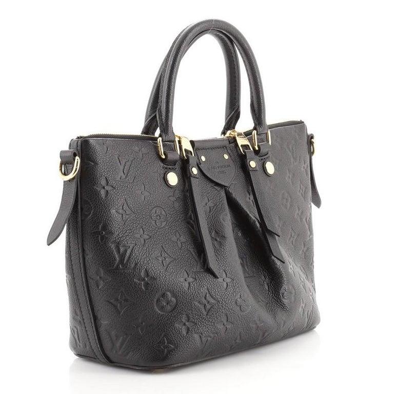 Louis Vuitton Mazarine Handbag Monogram Empreinte Leather PM In Good Condition For Sale In New York, NY