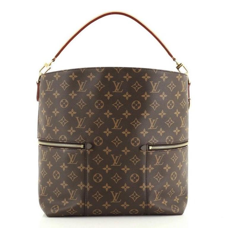 Brown Louis Vuitton Melie Handbag Monogram Canvas For Sale