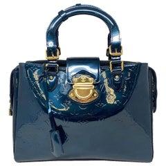 Louis Vuitton Melrose Avenue Blue Nuit Patent Leather Handbag
