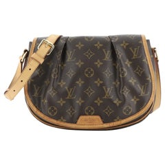 Louis Vuitton Menilmontant Handbag Monogram Canvas PM