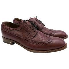 Louis Vuitton Men's Burgundy Leather Brogues size 45.5