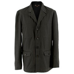 Louis Vuitton Mens Grey Cotton Jacket - Size 52