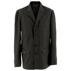 Louis Vuitton Mens Grey Cotton Jacket - Size XL - FR 52