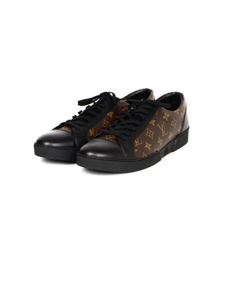 3e9eba57eee Louis Vuitton Men's New Black Leather/Monogram Match-Up Sneakers sz 12