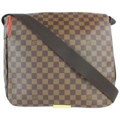 Louis Vuitton Messenger Bastille  4lz0129 Brown Coated Canvas Cross  Body Bag
