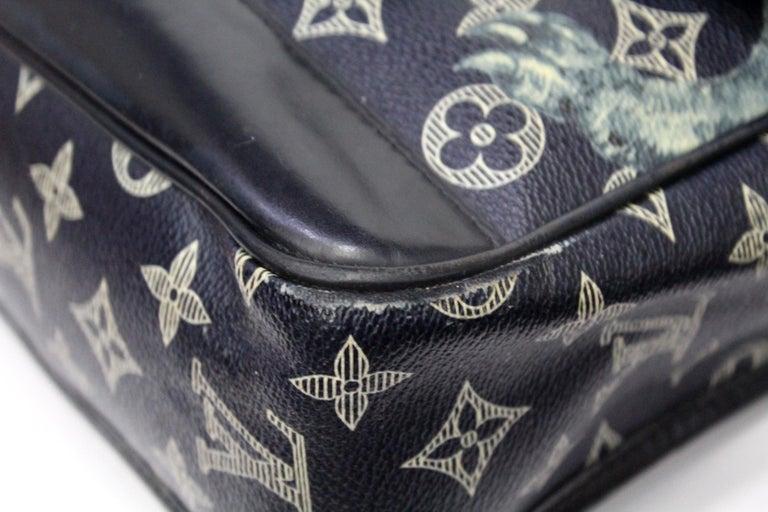 Louis Vuitton Messenger Encre Monogram Chapman Savane Black/Blue For Sale 3