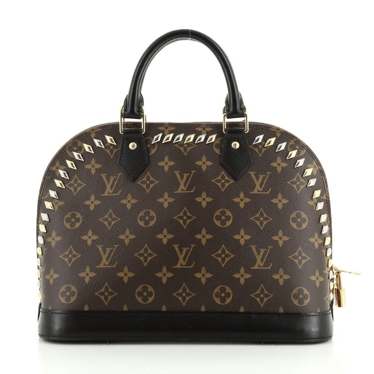 Women's or Men's Louis Vuitton Metal Stones Alma Handbag For Sale