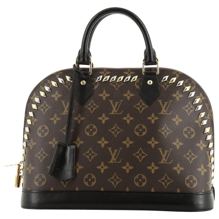 Louis Vuitton Metal Stones Alma Handbag For Sale