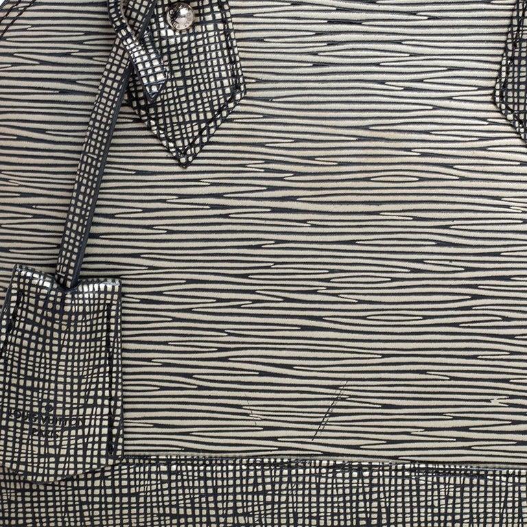 Louis Vuitton Metallic Silver Epi Leather Alma BB Bag For Sale 5