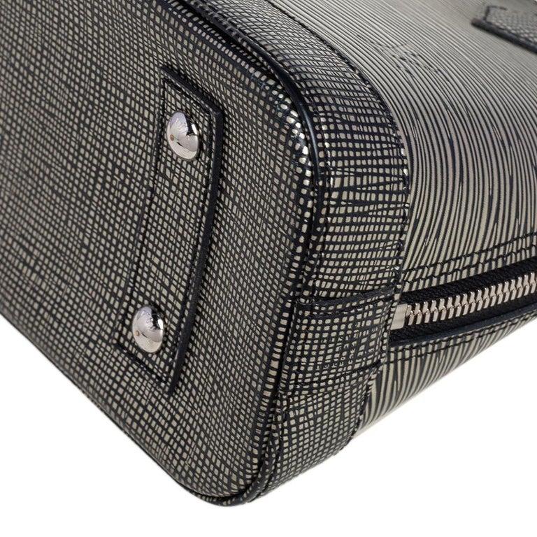 Louis Vuitton Metallic Silver Epi Leather Alma BB Bag For Sale 6