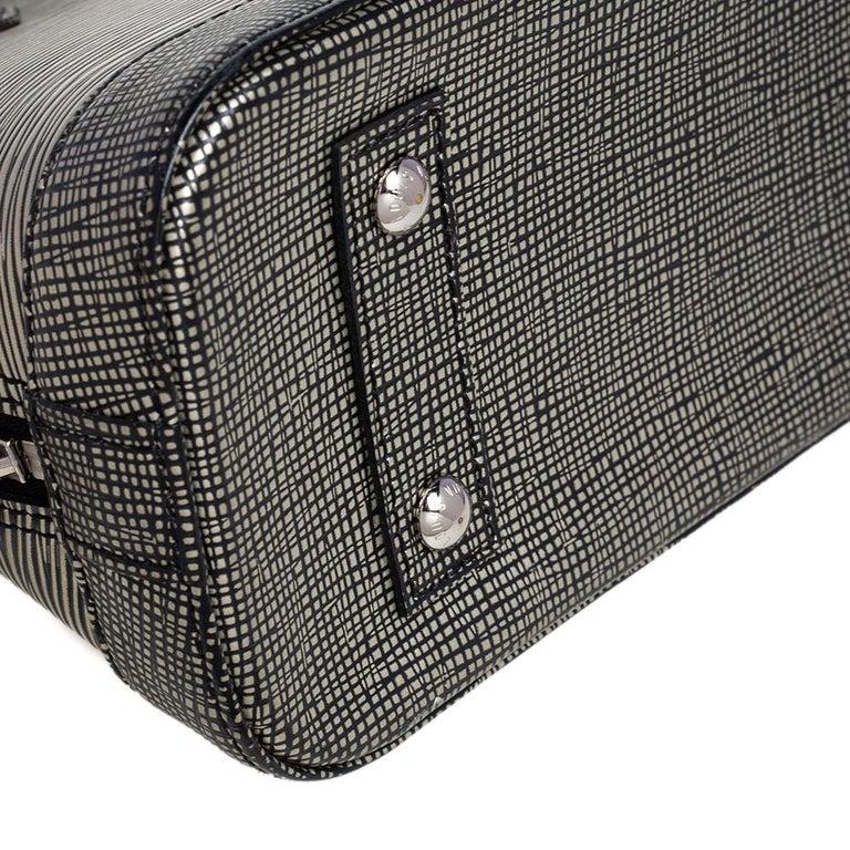 Louis Vuitton Metallic Silver Epi Leather Alma BB Bag For Sale 7