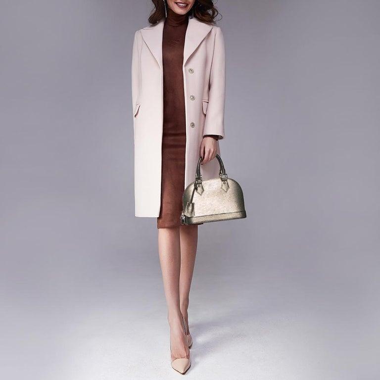 Black Louis Vuitton Metallic Silver Epi Leather Alma BB Bag For Sale