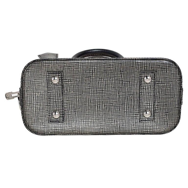 Women's Louis Vuitton Metallic Silver Epi Leather Alma BB Bag For Sale