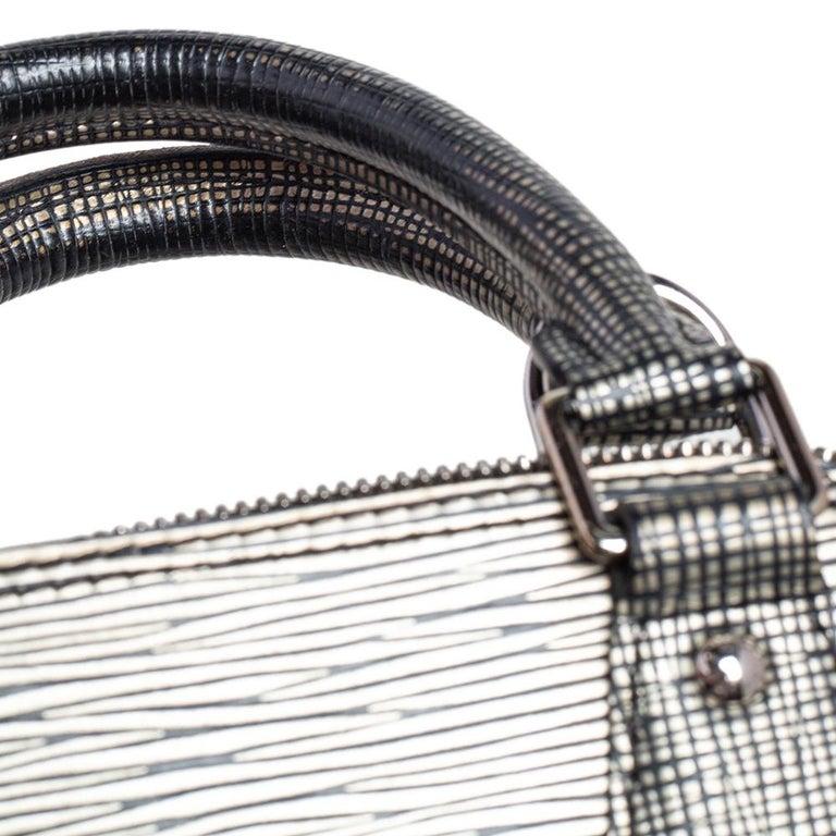 Louis Vuitton Metallic Silver Epi Leather Alma BB Bag For Sale 3