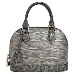Louis Vuitton Metallic Silver Epi Leather Alma BB Bag