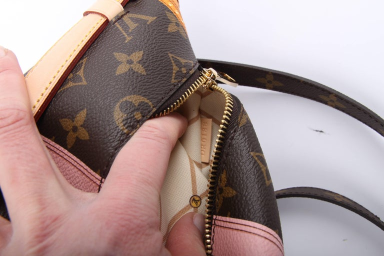 Louis Vuitton Brown and Pink Limited Edition Metis Handbag, 2018  For Sale 7