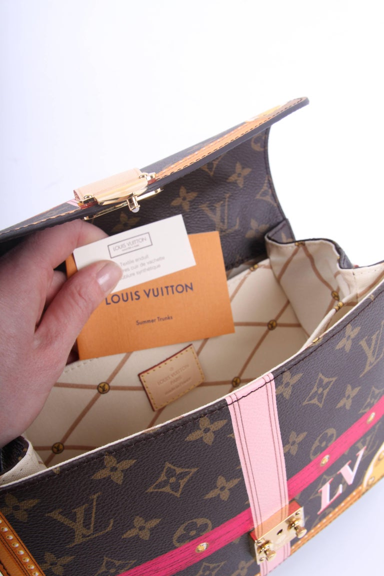 Women's or Men's   Louis Vuitton Brown and Pink Limited Edition Metis Handbag, 2018  For Sale