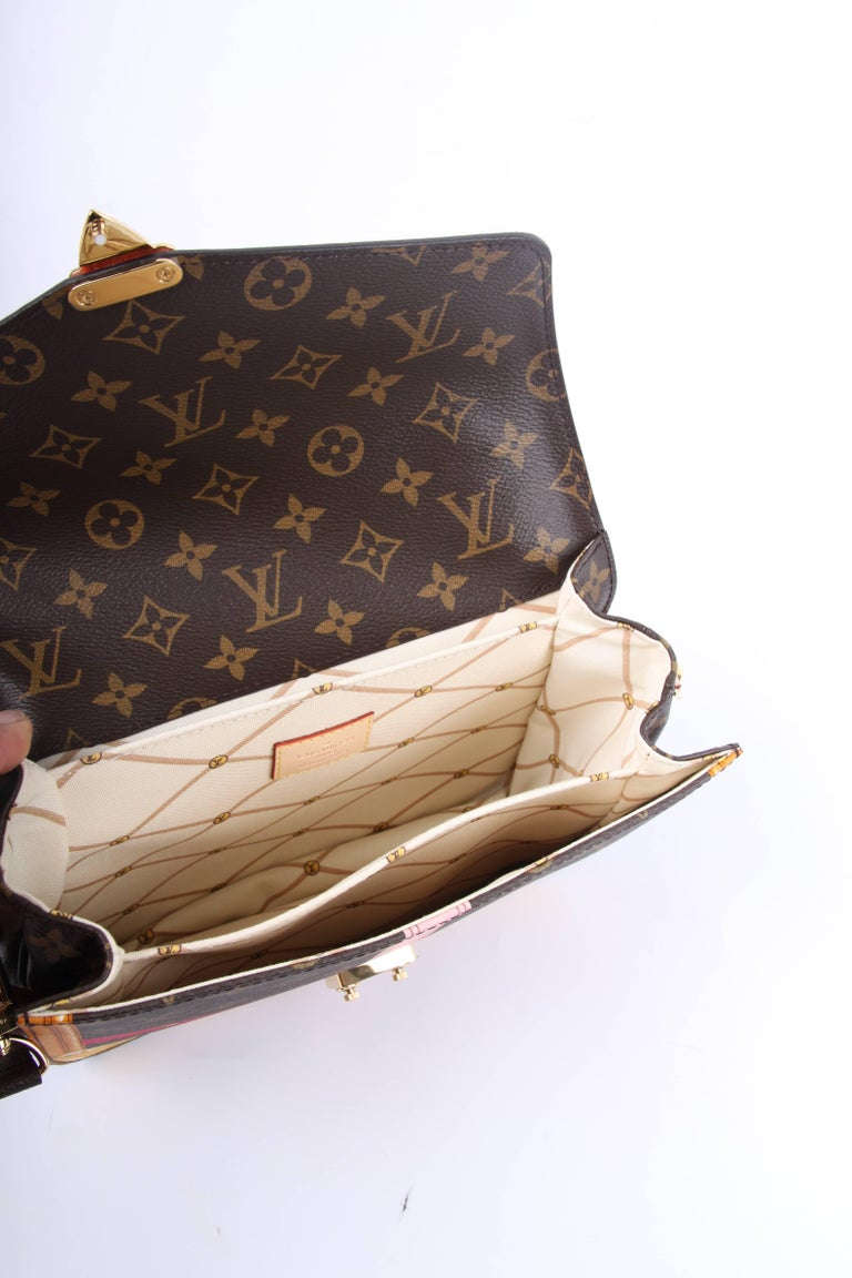 Louis Vuitton Brown and Pink Limited Edition Metis Handbag, 2018  For Sale 1