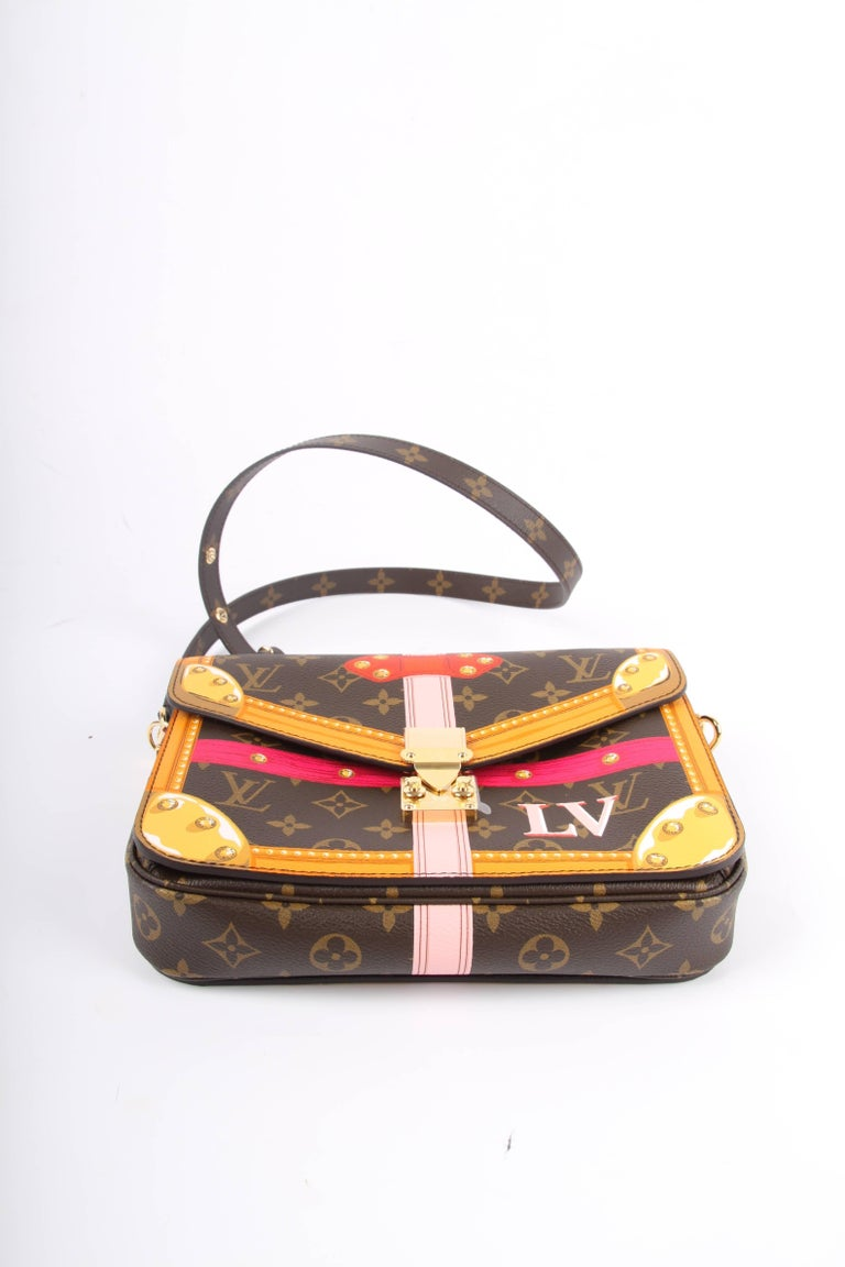 Louis Vuitton Brown and Pink Limited Edition Metis Handbag, 2018  For Sale 2