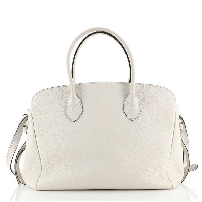 Beige Louis Vuitton Milla Handbag Veau Nuage Calfskin MM For Sale