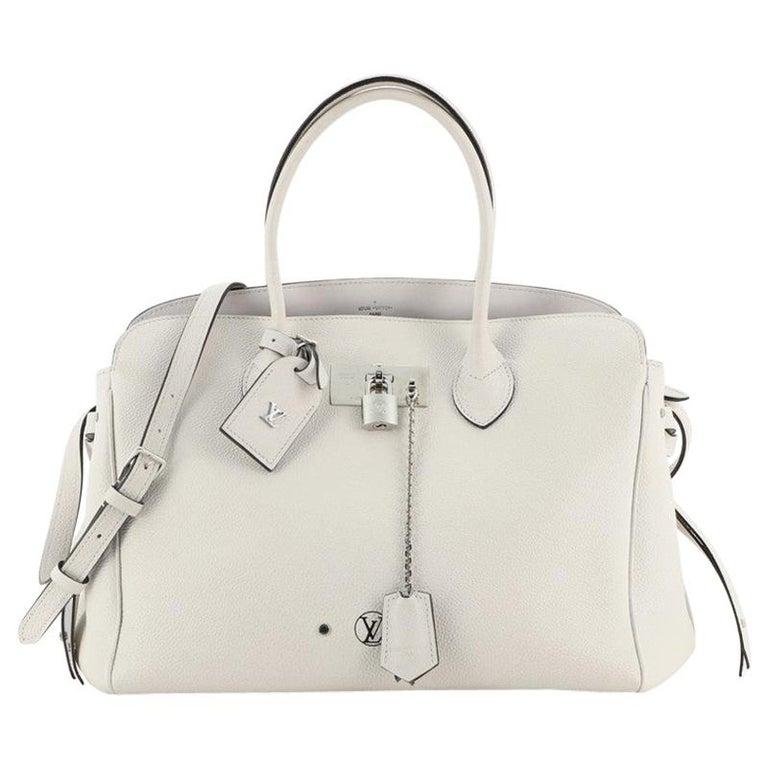 Louis Vuitton Milla Handbag Veau Nuage Calfskin MM For Sale