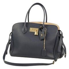 LOUIS VUITTON Milla MM Womens tote bag blue Marine( Navy) x gold hardware