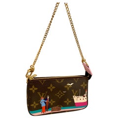 Louis Vuitton Mini Pochette Handbag Limited Edition Designer Monogram