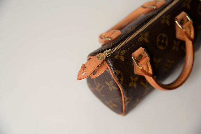 Louis Vuitton Mini Speedy Monogram with Dustbag For Sale 5