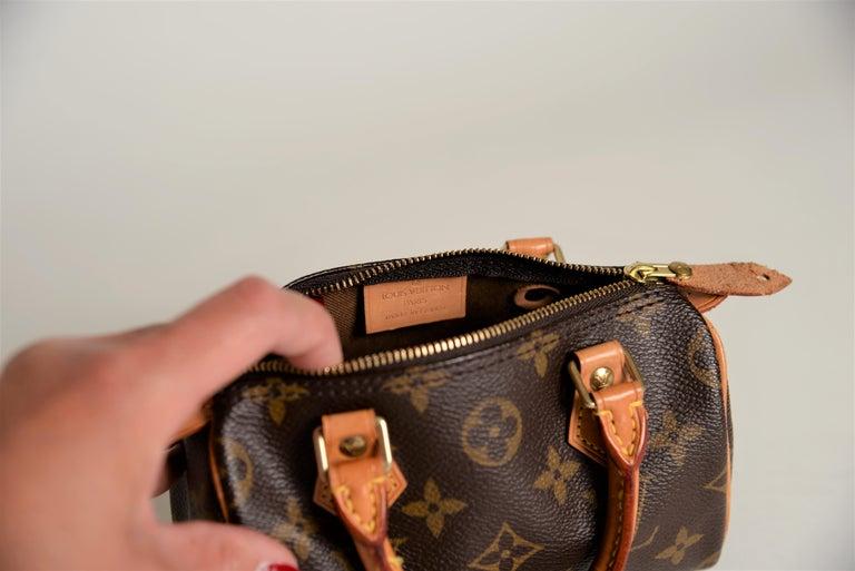 Louis Vuitton Mini Speedy Monogram with Dustbag For Sale 7