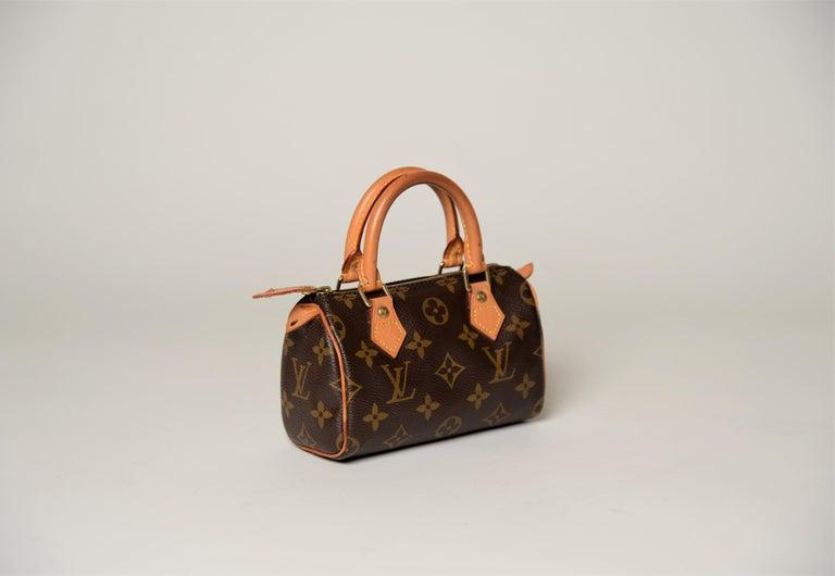Black Louis Vuitton Mini Speedy Monogram with Dustbag For Sale