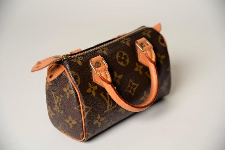 Louis Vuitton Mini Speedy Monogram with Dustbag For Sale 4