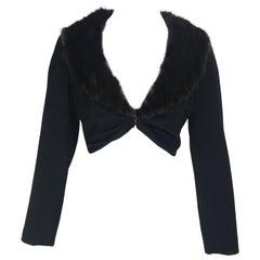 Louis Vuitton Mink Fur Cropped Jacket