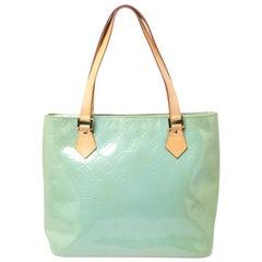 Louis Vuitton Mint Green Vernis Monogram Houston Bag